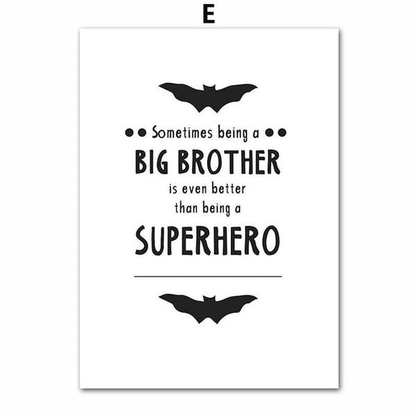 Super Hero Canvas Paintings Kids Batman Wall Art  - Just Kidding Store