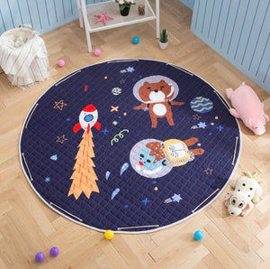 Space Adventure Antislip Play Mat Toy Storage - Just Kidding Store