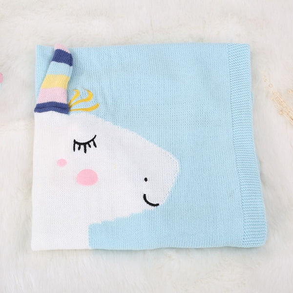 Unicorn baby kids knitted blanket - Get Enchanted - Just Kidding Store