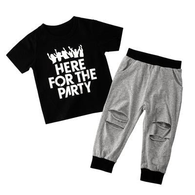 Here For The Party Toddlers and Kids Pajama Set - Just Kidding Store