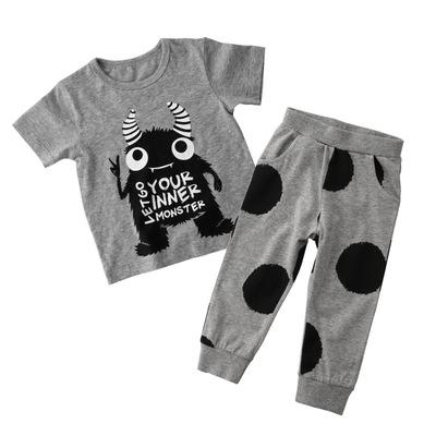 Little Monster Toddler and Kids Trendy Pajama Set - Just Kidding Store