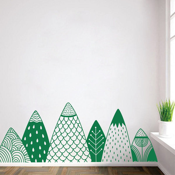 High Mountains Wall Decal - Woodland Wall Stickers - Just Kidding Store