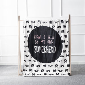 Superhero Coral Fleece Kids Blanket - Just Kidding Store