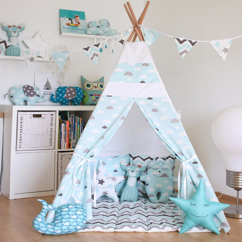 Little Clouds Teepee - Portable Indian Tent - Just Kidding Store
