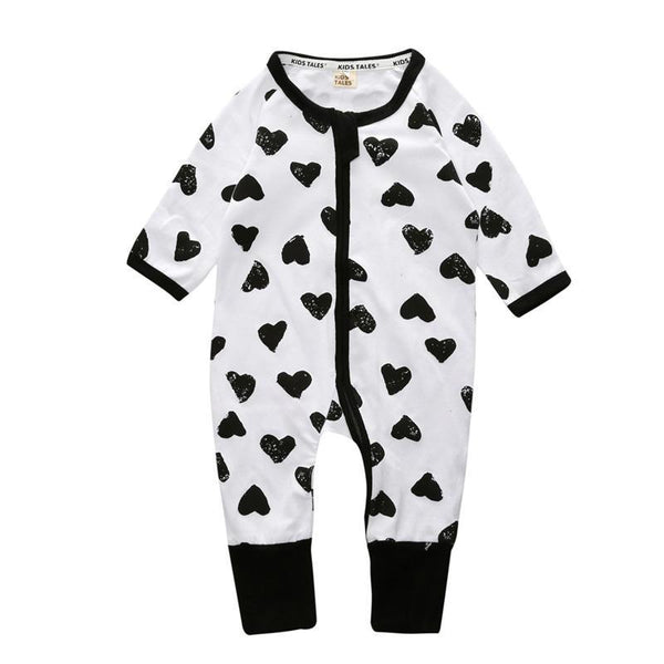 All Over Hearts Baby Romper - Just Kidding Store