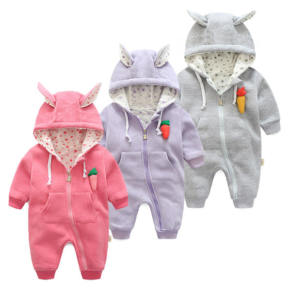 Carrot Hooded Baby and Toddler Romper - Just Kidding Store