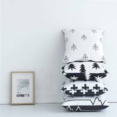 Nordic Style Pillows - Black and White Cushions - Just Kidding Store
