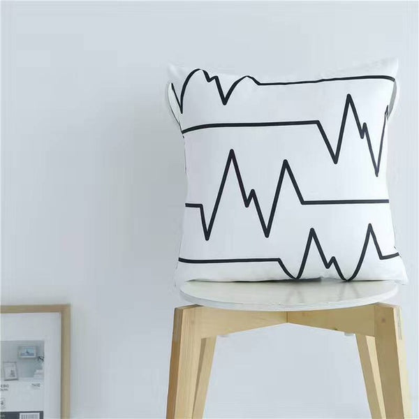 Nordic Style Pillows - Wave Cushion - Just Kidding Store