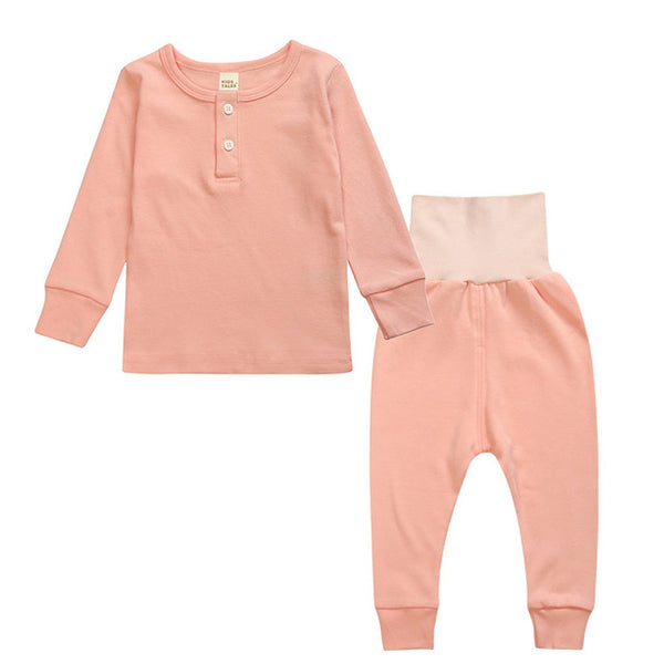 Sleepwear Set - Kids Pajamas - Peach - Just Kidding Store
