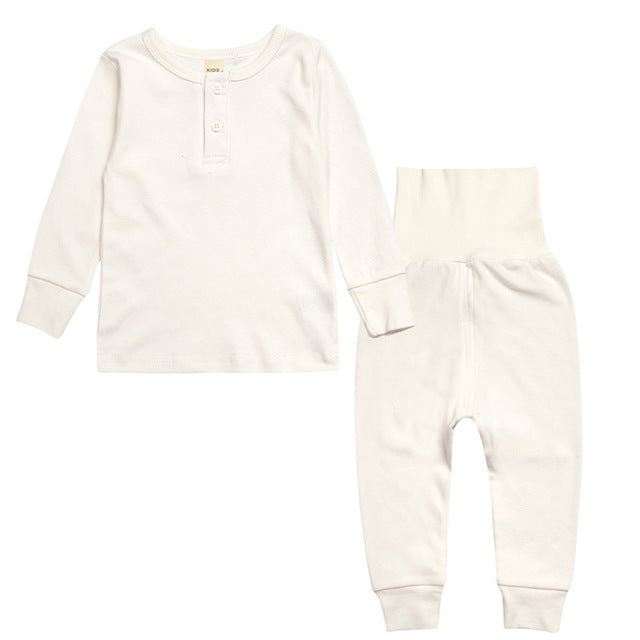 Sleepwear Set - Kids Pajamas - Ivory - Just Kidding Store