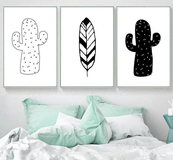 Canvas Wall Art - Cactus Leave Tent - Just Kidding Store