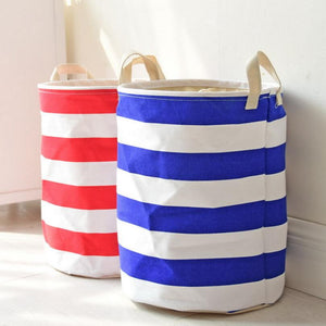Crude Stripes Storage Basket - Childrens Toys Solution - Just Kidding Store