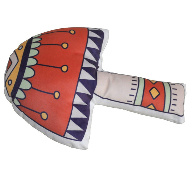 Woodland Animal Kids Cushions - Mushroom Tribal Pillows - Just Kidding Store