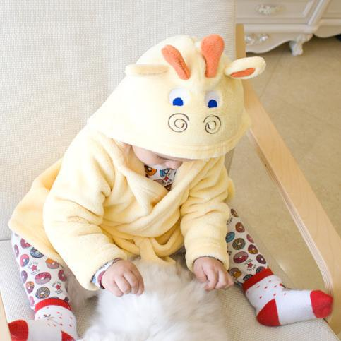 Yellow Fawn babies and kids bathrobes - Just Kidding Store