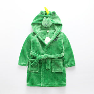 Green Dinosaur babies and kids bathrobes - Just Kidding Store