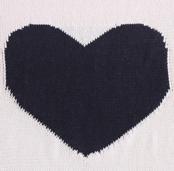 Big Heart Cotton Blanket - Kids Blanket - Just Kidding Store