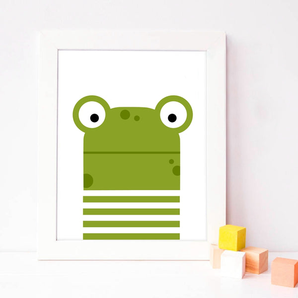 Animal Print Frog Canvas Paintings - Just Kidding Store