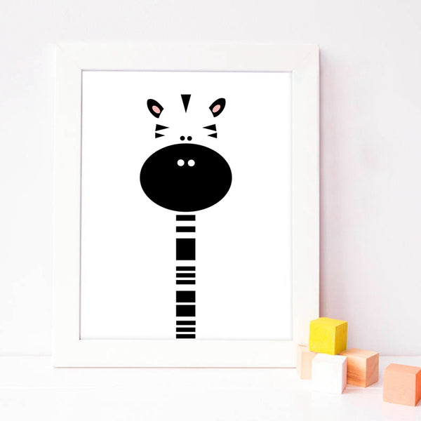 Animal Print Cartoon Canvas Paintings - Just Kidding Store