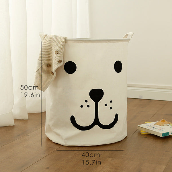 Super Large Toy Storage - Smily Bear Kids Laundry Basket - Just Kidding Store
