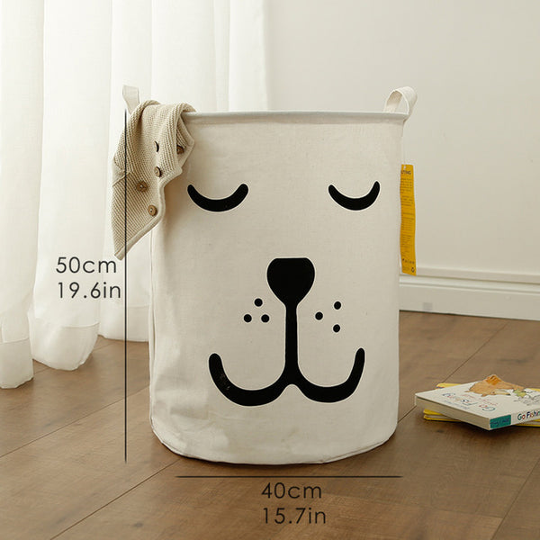 Super Large Toy Storage - Sleepy Bear Kids Laundry Basket - Just Kidding Store