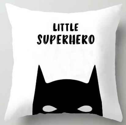 Action Figures Pillow Case  - Little Superhero - Just Kidding Store
