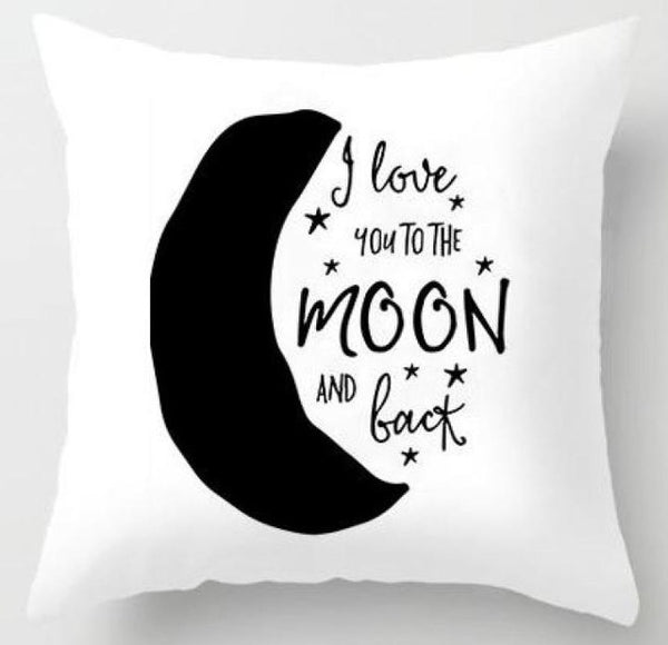 Action Figures Pillow Case  - To the Moon and Back - Just Kidding Store