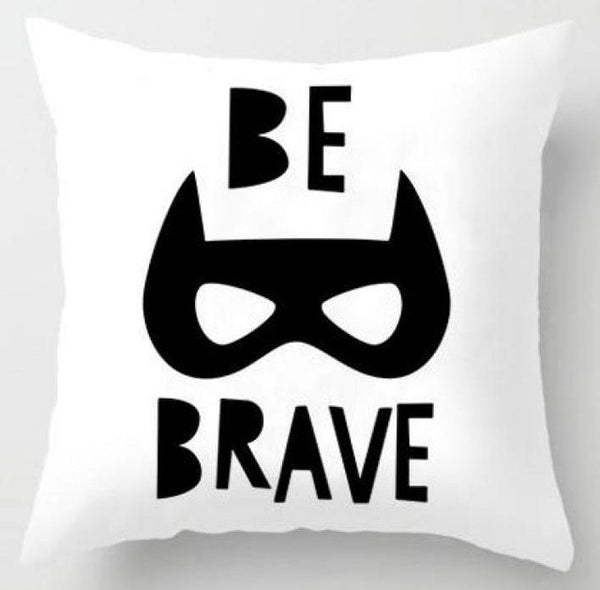 Action Figures Pillow Case  - Be Brave - Just Kidding Store