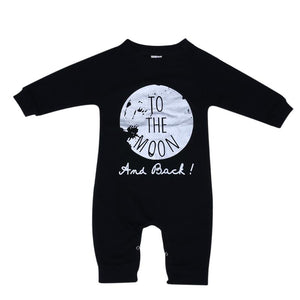 To The Moon And Back Baby and Toddler Romper - Just Kidding Store