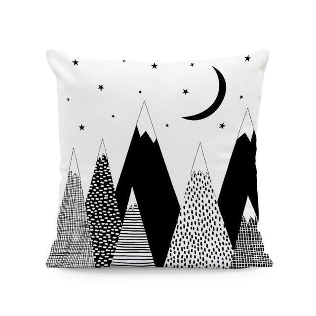 Nordic Style Cushion Covers High Mountains - Just Kidding Store