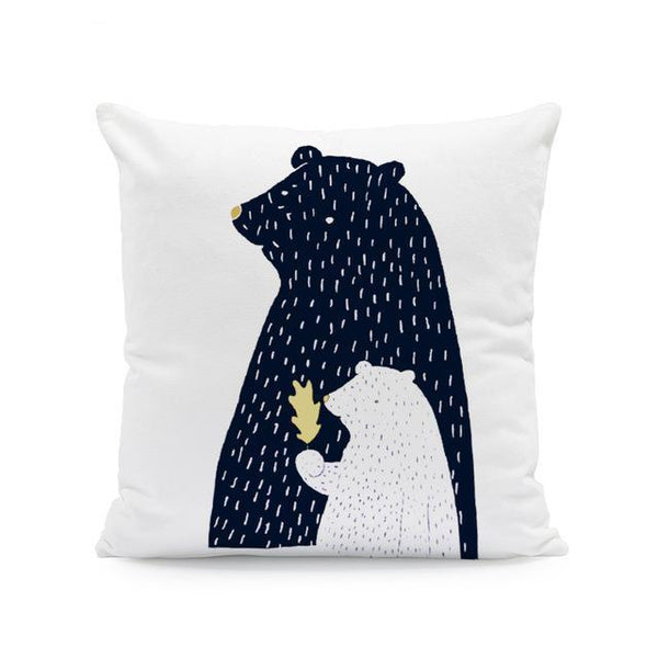 Nordic Style Cushion Covers - Daddy Bear - Just Kidding Store