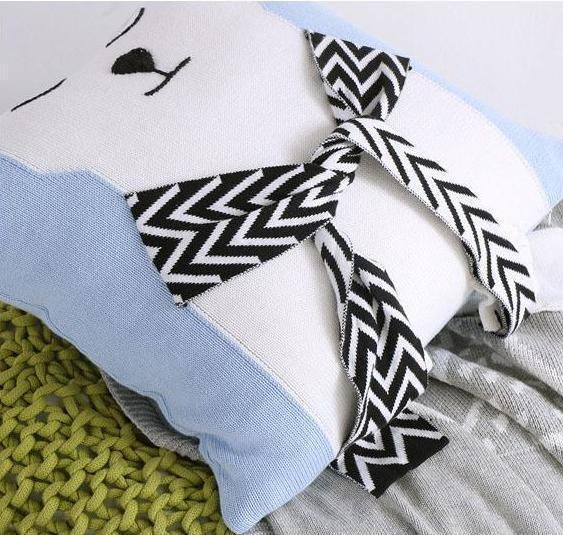 Polar Bear Cushion Cover - Knitted Pillow Case - Just Kidding Store