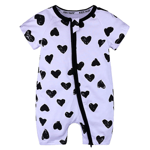 All Over Hearts Baby and Toddler Summer Romper - Just Kidding Store