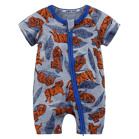 Tiger Summer Baby and Toddlers Romper -  Just Kidding Store