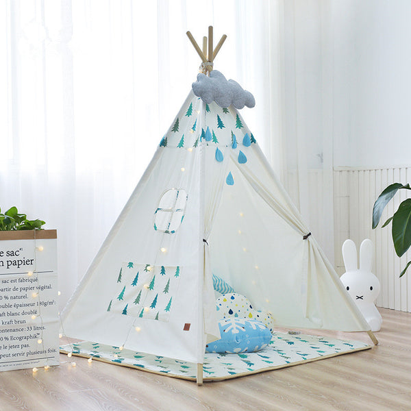 White Pine Trees Teepee - Kids Indian Play Tent - Just Kidding Store