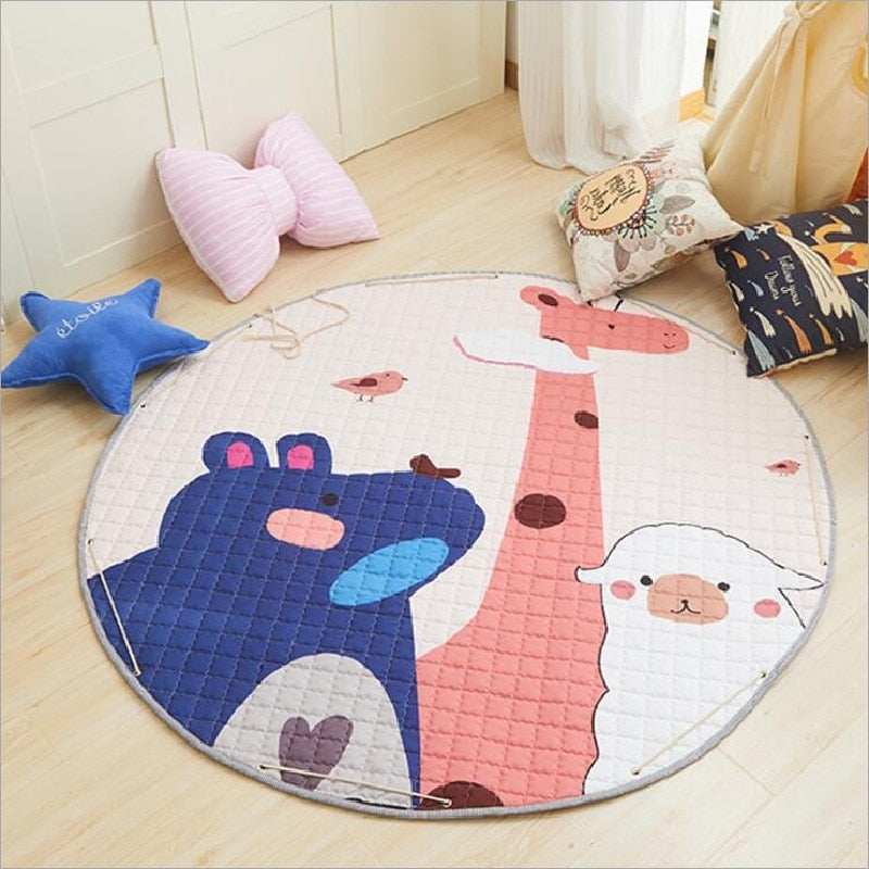Activity Play Mat Toy Storage Bag Animal Friends - Just Kidding Store