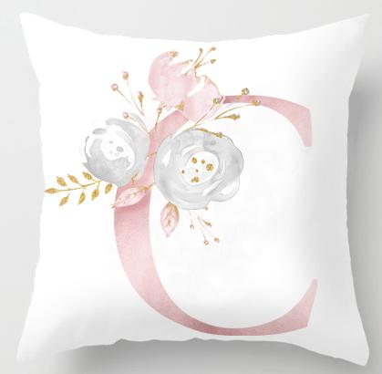 C Initial Personalised Cushion Cover - Just Kidding Store
