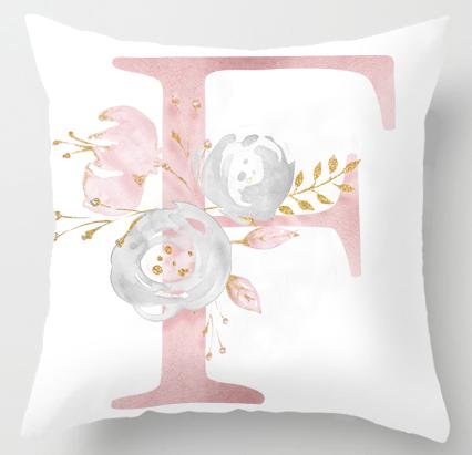 F Initial Personalised Cushion Cover - Just Kidding Store