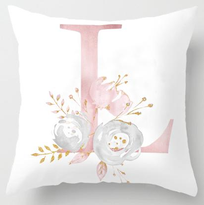 L Initial Personalised Cushion Cover - Just Kidding Store
