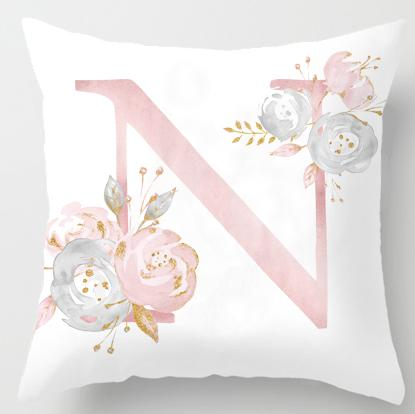 N Initial Personalised Cushion Cover - Just Kidding Store