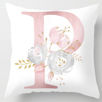 P Initial Personalised Cushion Cover - Just Kidding Store