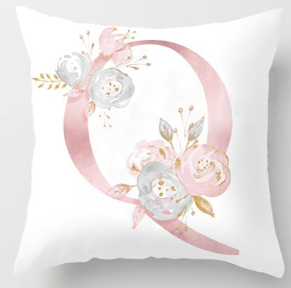 Q Initial Personalised Cushion Cover - Just Kidding Store