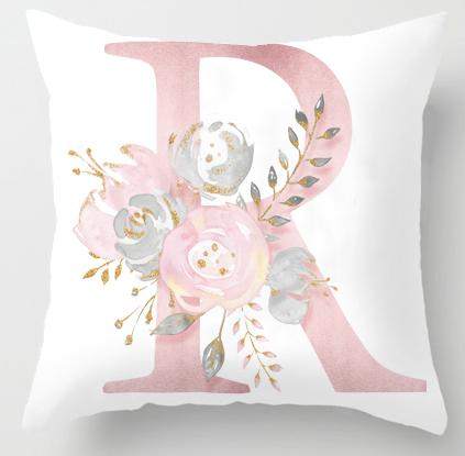 R Initial Personalised Cushion Cover - Just Kidding Store