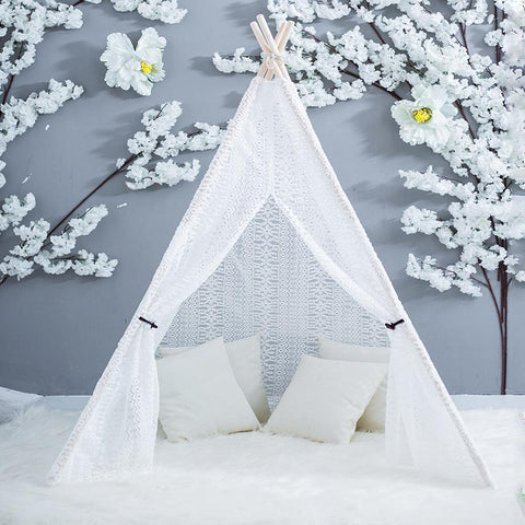 Full Lace Fairy Teepee Handmade Indian Play Tent - Just Kidding Store