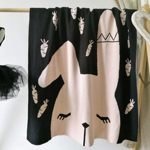 Pink Bunny Double Sided Cotton Blanket - Just Kidding Store