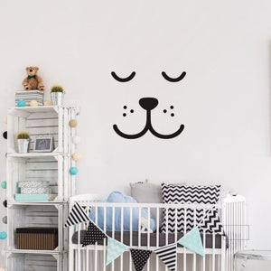 Sleepy Bear Vinyl Wall Decal Kids Wall Stickers - Just Kidding Store