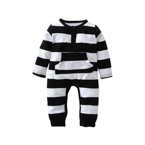 Jailbird Trendy Baby and Toddlers Stripped Romper - Just Kidding Store
