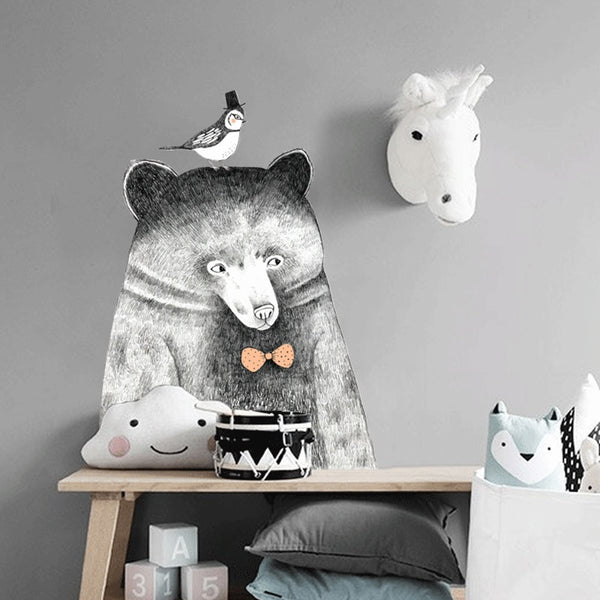 Big Bear Wall Decal - Kids Wall Stickers - Just Kidding Store