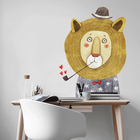 Big Lion Wall Decal - KIds Wall Stickers - Just Kidding Store