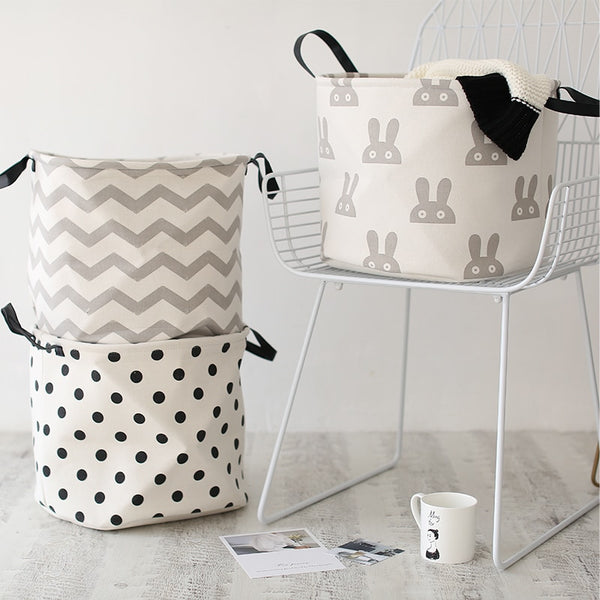 Nordic Style Storage Baskets - Kids Hamper Bag - Just Kidding Store