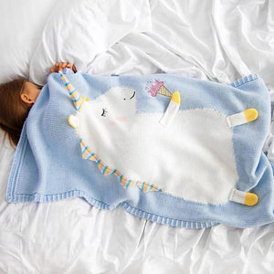 Get Enchanted Unicorn Cotton Knitted Baby Kids Blanket - Just Kidding Store